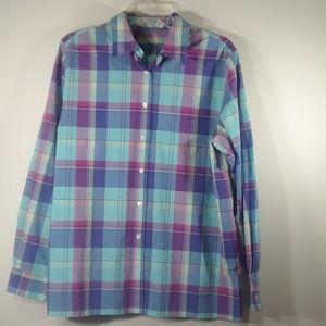 Foxcroft wrinkle-free plaid shirt 14